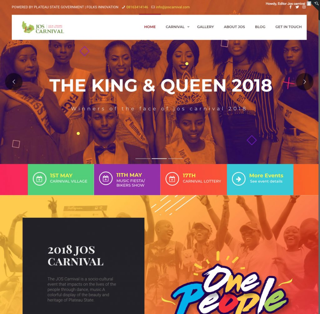 event web design company in Nigeria