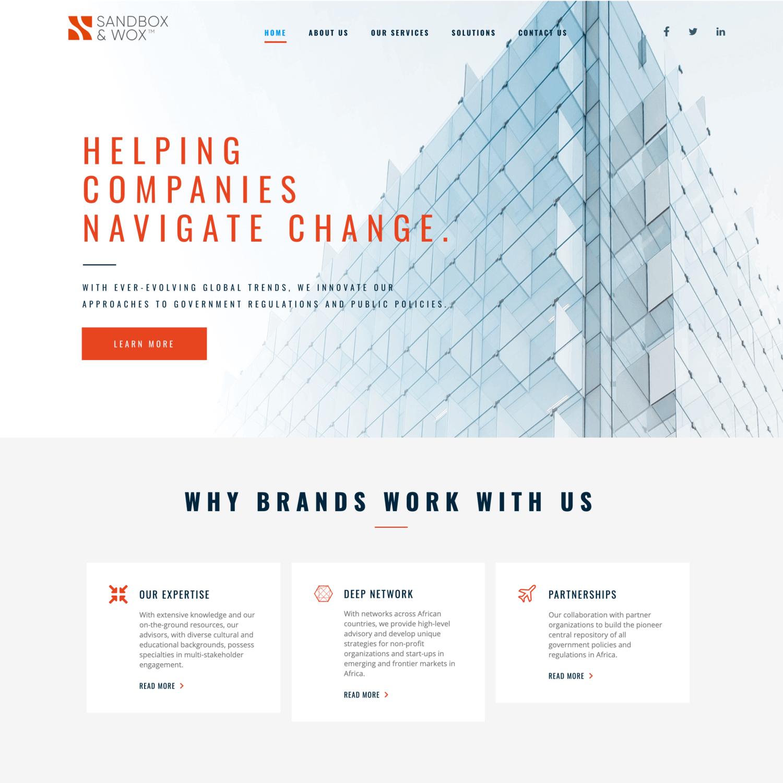 Website Design in Nigeria sandbox and wox